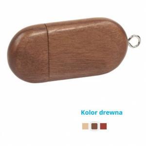 Pamięć USB Eco drewniana magnetyczna 16GB z logo