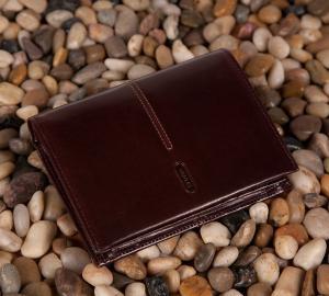 Męski portfel Verus London 90 brązowy