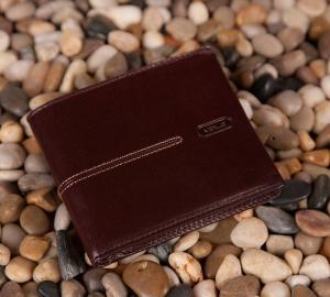 Męski portfel Verus London 05 brązowy