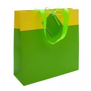 Torba na prezenty, zielony/żółty - druga jakość