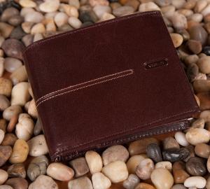 Męski portfel Verus London 91 brązowy
