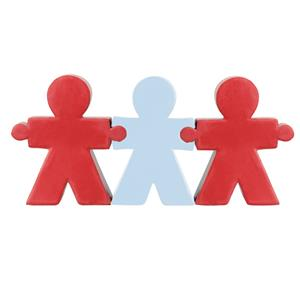 Antystresowy zestaw People, biały/czerwony