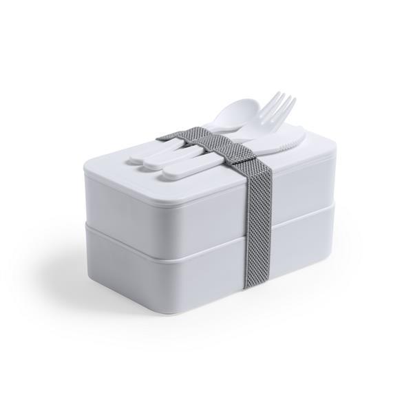 Antybakteryjne pudełka śniadaniowe 2 szt., 2x700 ml, sztućce V8861-02-253942
