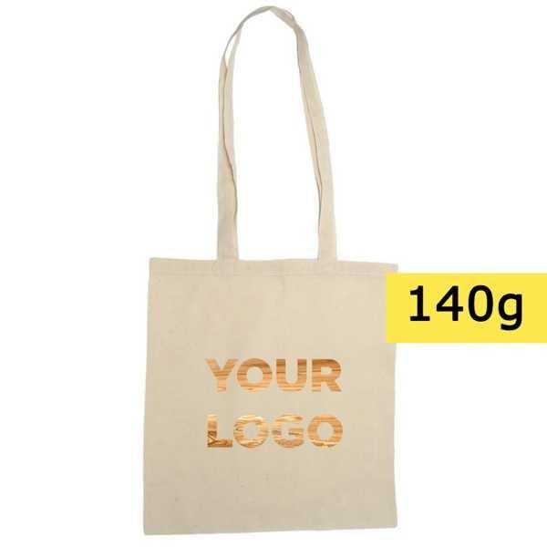 Torba bawełniana na zakupy z nadrukiem logo
