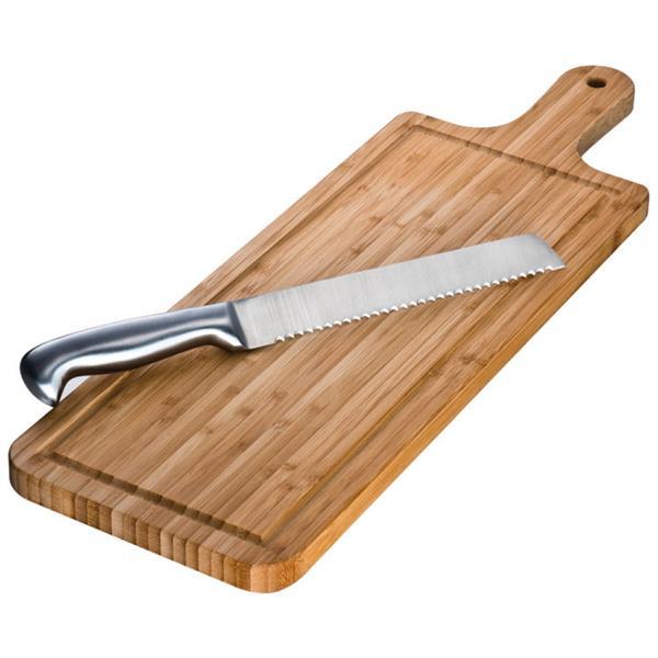 Bambusowa deska do krojenia z nożem 8887201-163073